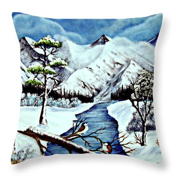 Winter Serenity Throw Pillow by Fram Cama