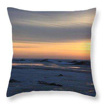 Winter Sleeps Throw Pillow