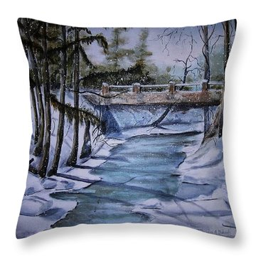 Winter Solitude Throw Pillow by Marylyn Wiedmaier