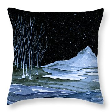 Winter Solstice Throw Pillow by Brenda Owen