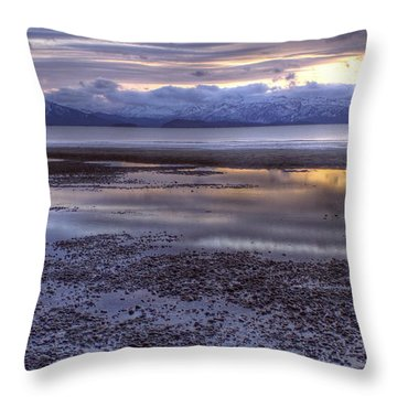 Throw Pillow featuring the photograph Winter Sunset by Michele Cornelius