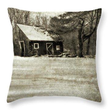 Winter Textures Throw Pillow
