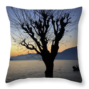 Winter Tree Throw Pillow by Joana Kruse