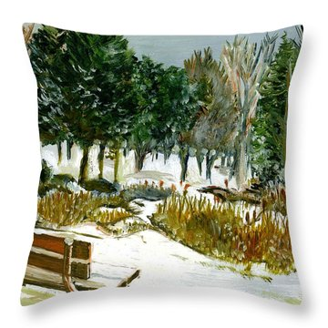 Winter's Invitation Throw Pillow