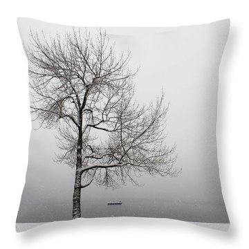 Wintertrees Throw Pillow by Joana Kruse
