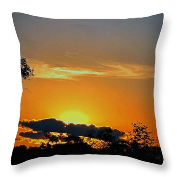 Wisconsin Sunset Throw Pillow