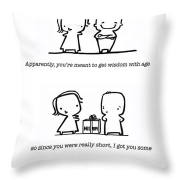 Throw Pillow featuring the drawing Wisdom by Leanne Wilkes