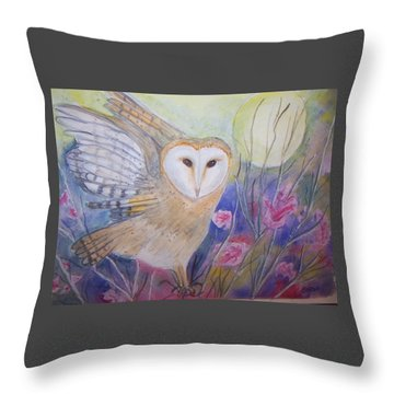 Wise Moon Throw Pillow