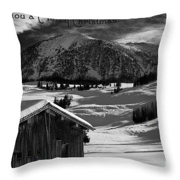 Wishing You A Merry Christmas Austria Europe Throw Pillow by Sabine Jacobs