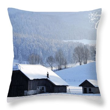 Wishing You A Wonderful Christmas Throw Pillow by Sabine Jacobs