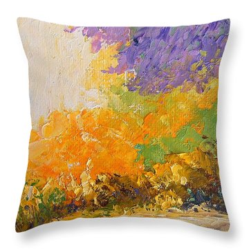 Throw Pillow featuring the painting Wisteria by Fred Wilson