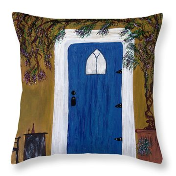 Wisteria Winery Throw Pillow