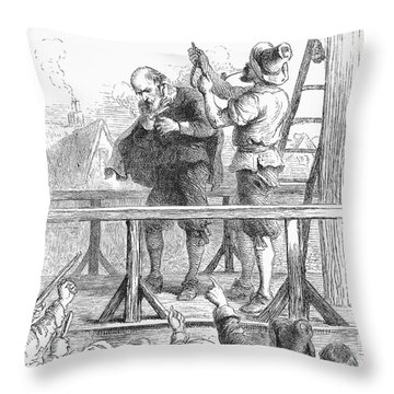 Witch Trial: Execution, 1692 Throw Pillow by Granger