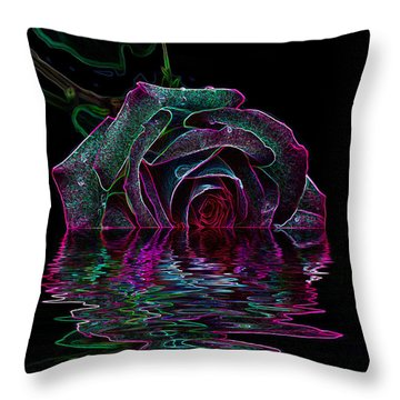 With A Glow Throw Pillow by Doug Long
