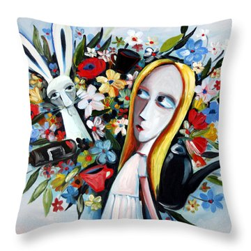 Without Fear Throw Pillow by Leanne Wilkes