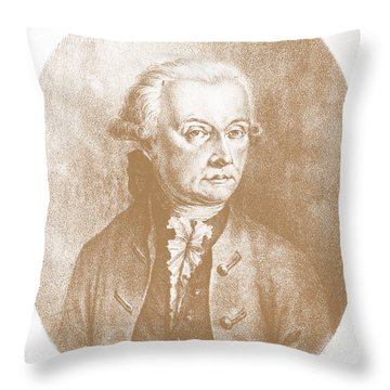 Wolfgang Amadeus Mozart, Austrian Throw Pillow by Photo Researchers, Inc.