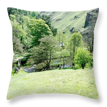 Wolfscote Dale From Gipsy Bank Throw Pillow by Rod Johnson