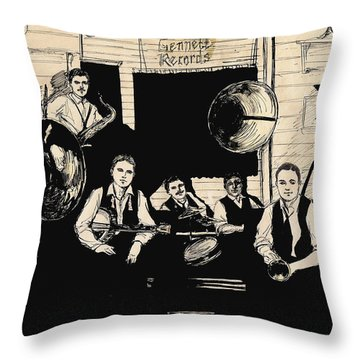 Wolverines Recording Session Throw Pillow