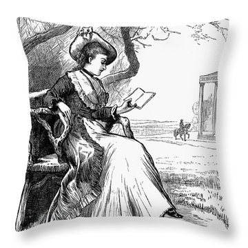 Woman Reading, 1876 Throw Pillow by Granger