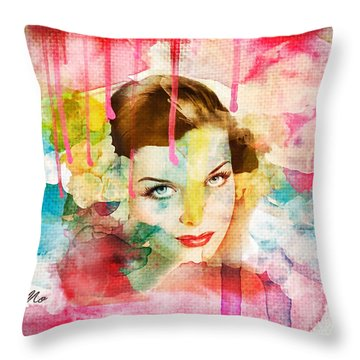 Woman's Soul Prelude Throw Pillow by Mo T