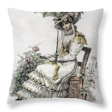 Womens Fashion, 1826 Throw Pillow