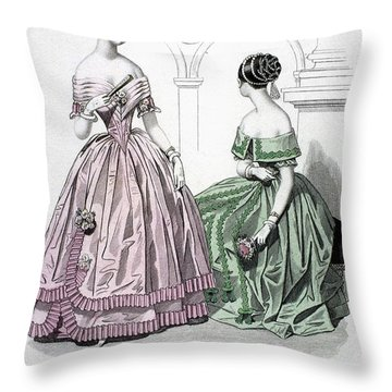 Womens Fashion, 1843 Throw Pillow by Granger
