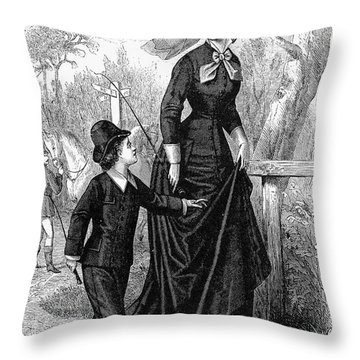 Womens Fashion, 1876 Throw Pillow by Granger