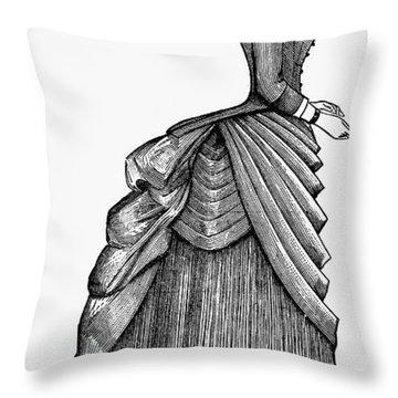 Womens Fashion, 1884 Throw Pillow by Granger