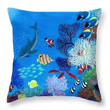 Wonder Down Under Throw Pillow