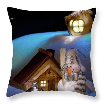Wonderful Christmas Still Life Throw Pillow by Oleksiy Maksymenko