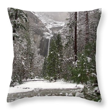 Wonderland Yosemite Throw Pillow by Heidi Smith