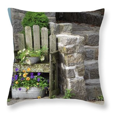 Wood And Granite Throw Pillow