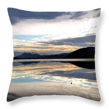 Wood Lake Mirror Image Throw Pillow by Will Borden