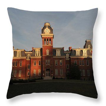 Woodburn In The Morning Throw Pillow by Dan Friend