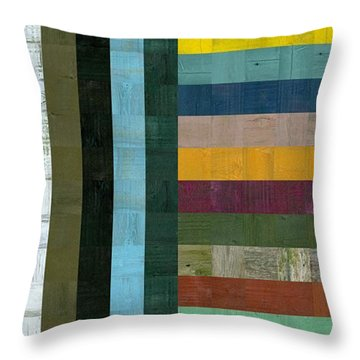 Wooden Abstract Vl  Throw Pillow by Michelle Calkins