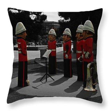 Throw Pillow featuring the photograph Wooden Bandsmen by Blair Stuart