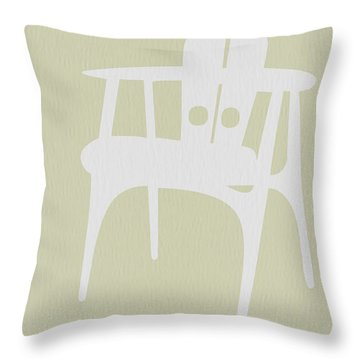 Wooden Chair Throw Pillow by Naxart Studio
