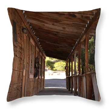 Wooden Walk Throw Pillow