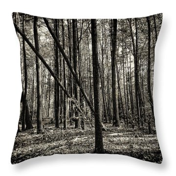 Woodland Throw Pillow by Lourry Legarde