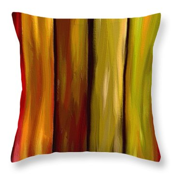 Woodlands Throw Pillow by Ely Arsha