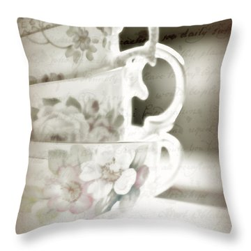 Words Remembered Throw Pillow by Bonnie Bruno