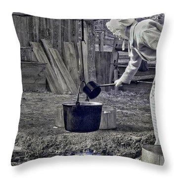 Working Girl Throw Pillow by Joann Vitali