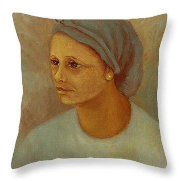Working Woman Throw Pillow by Rachel Hershkovitz