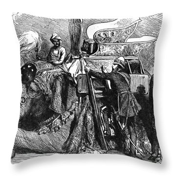 World History: India Throw Pillow by Granger