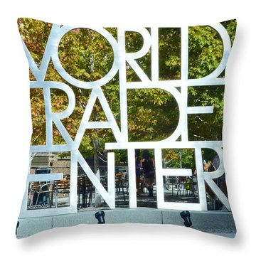 World Trade Center Throw Pillow by Kathleen Struckle