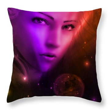 World's Apart Throw Pillow