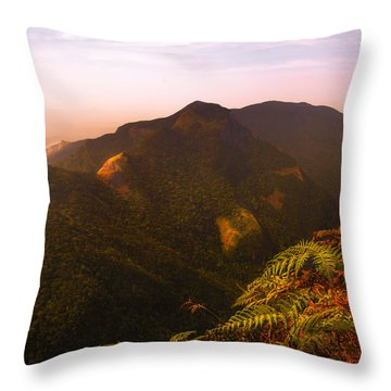 Worlds End. Horton Plains National Park I. Sri Lanka Throw Pillow by Jenny Rainbow