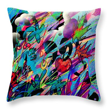 Wounded Fruit Throw Pillow by Rachel Christine Nowicki