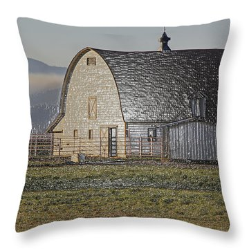 Wrapped Barn Throw Pillow by Mick Anderson