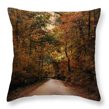 Wrapped In Autumn Throw Pillow by Jai Johnson